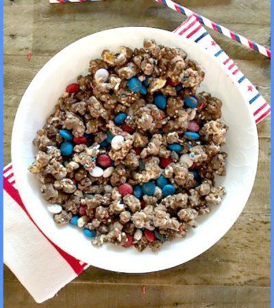 Milk Chocolate Covered Patriotic Popcorn