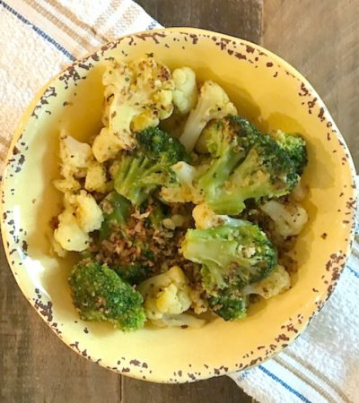 Broccoli Cauliflower Sauté with Toasted Panko Bread Crumbs