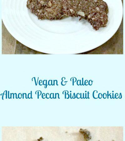 Vegan Paleo Almond Pecan Biscuit Cookies
