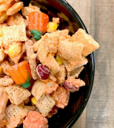 White Chocolate Chex Pumpkin Party Mix