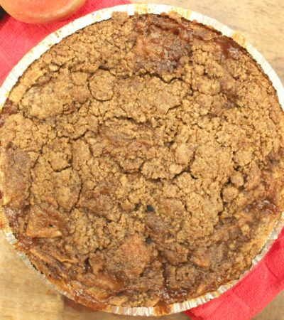 Rustic Dutch Apple Pie with Graham Cracker Crust