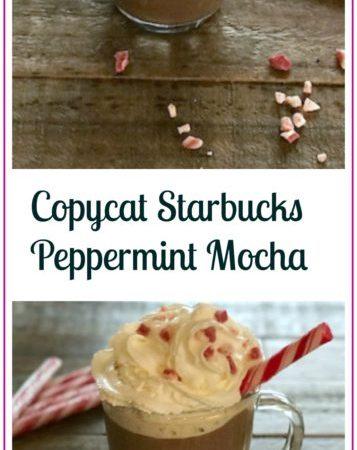 Copycat Starbucks Peppermint Mocha