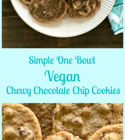 One Bowl Vegan Chewy Chocolate Chip Cookies