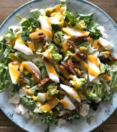 Broccoli Salad with Orange Ginger Dressing