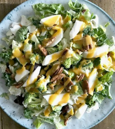 Broccoli Mixed Salad with Simple Orange Ginger Dressing