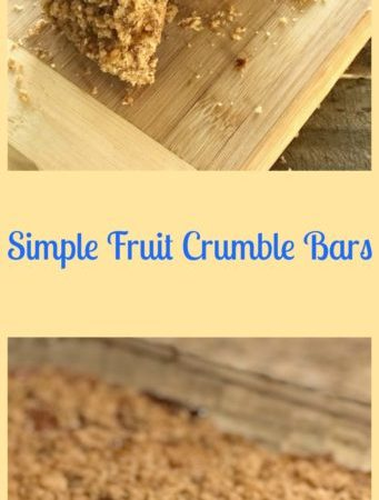 Simple Fruit Crumble Bars