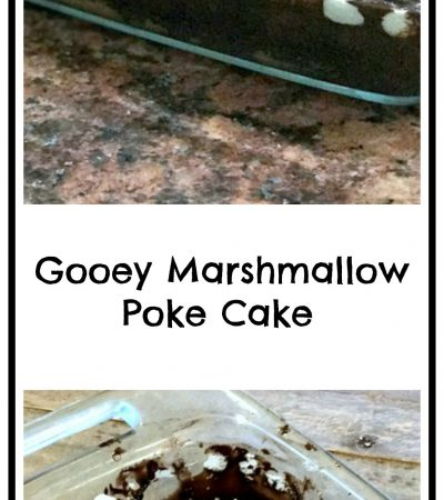 Gooey Marshmallow Pudding Poke Cake