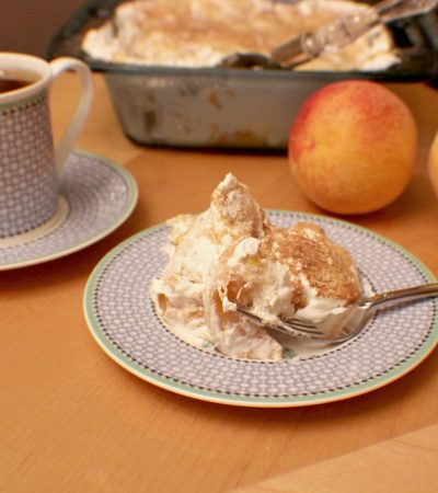 5 Ingredients – Pantry Peach Trifle