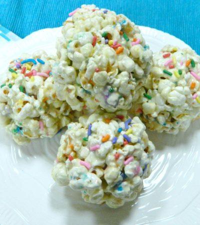 Funfetti Popcorn Balls