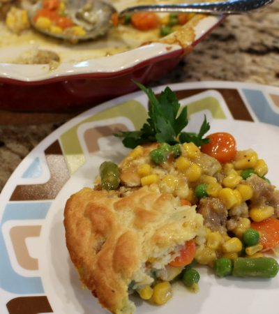 Shortcut Meatball Pot Pie Casserole