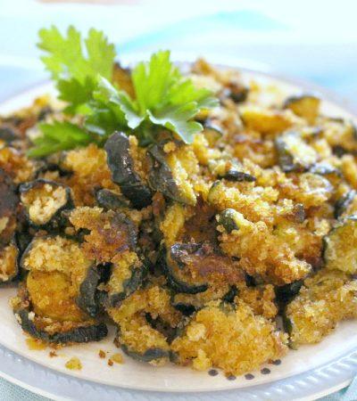 Shortcut Baked Panko Zucchini Crisps
