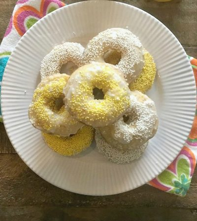 Small Batch Baked Lemon Donuts
