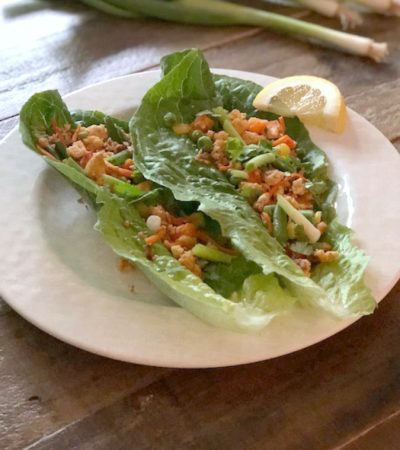 Simple Tofu Lettuce Wraps