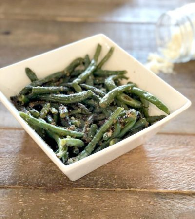 Green Beans with Parmesan Garlic Breadcrumbs