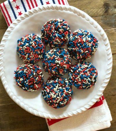 Double Chocolate Patriotic Cookies