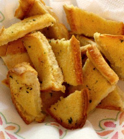 Rustic Parmesan Garlic Bread