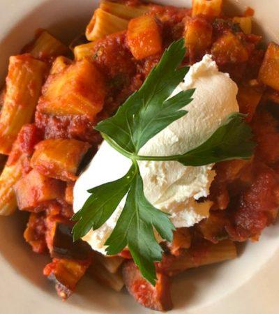Shortcut Eggplant Tomato Rigatoni