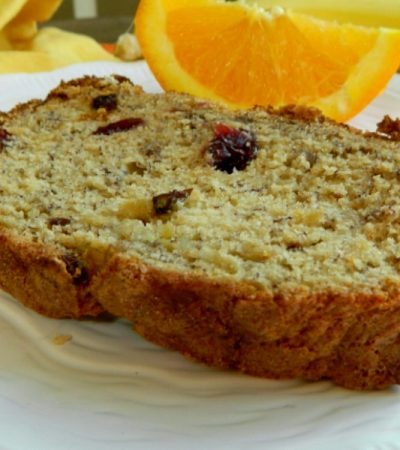 Simple Orange Cranberry Banana Bread