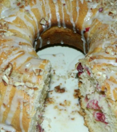 So Simple Bisquick Double Cranberry Bundt Cake