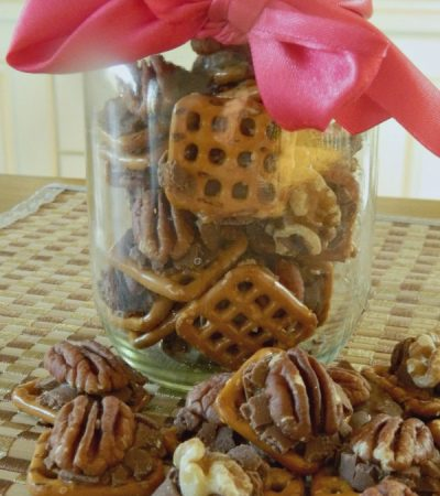 3 Ingredient Nutty Rolo Pretzel Snaps