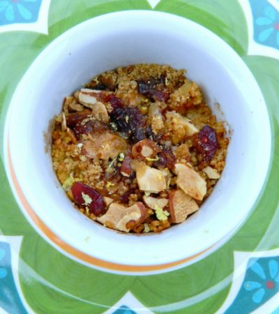 Baked Fruit and Nut Couscous
