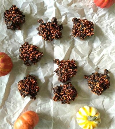 Healthy Dark Chocolate Halloween Clusters