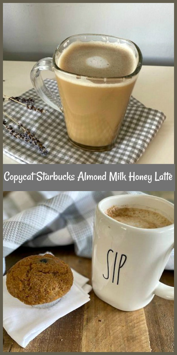 This copycat Starbucks almond milk honey latte recipe is based on the Almond Milk Honey Flat White recipe. This honey almond milk latte is a winner! This copycat Starbucks almond milk and honey flat white recipe has only three ingredients and takes no time from beginning to enjoying your first sip. via @skinnydesserts