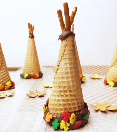 4 Ingredient Sugar Cone Teepees