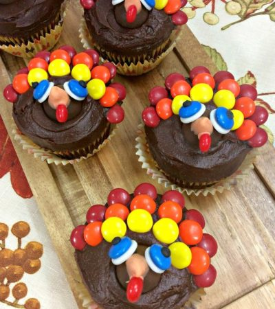 Chocolate Sour Cream Turkey Cupcakes