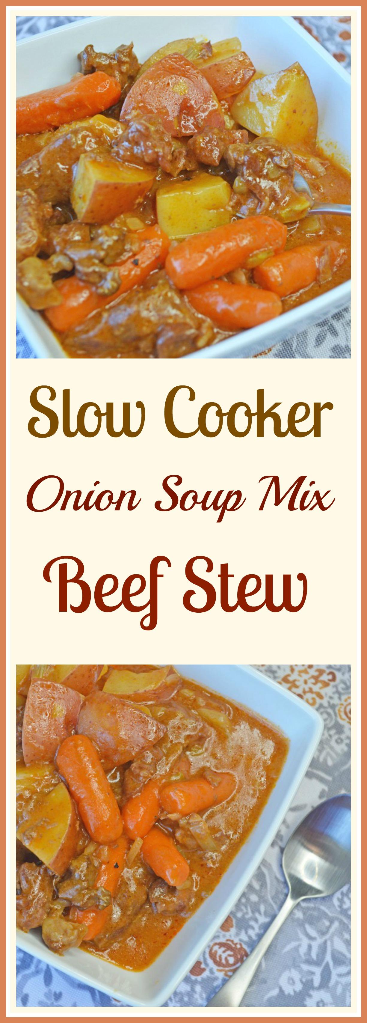 Crock Pot Onion Soup Mix Beef Stew Pams Daily Dish