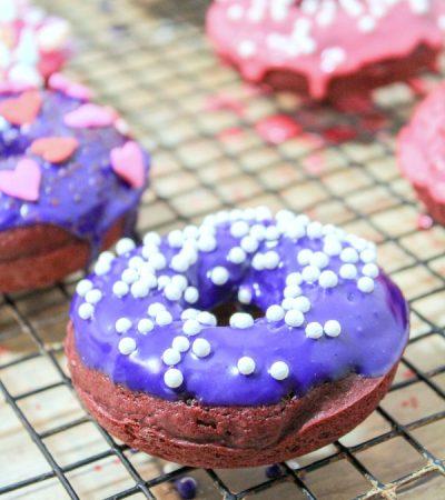 Small Batch Baked Red Velvet Donuts