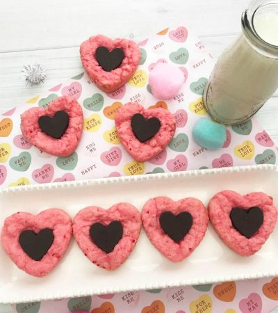 Chocolate Heart Strawberry Cookies