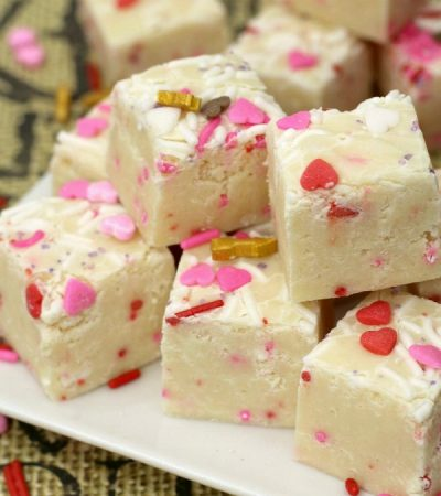 Pink and White Chocolate Fudge