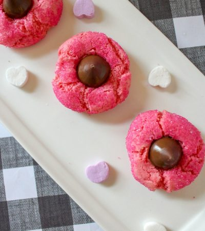 Pink Sprinkle Kiss Cookies