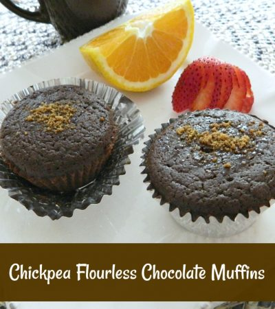 Chickpea Flourless Chocolate Muffins