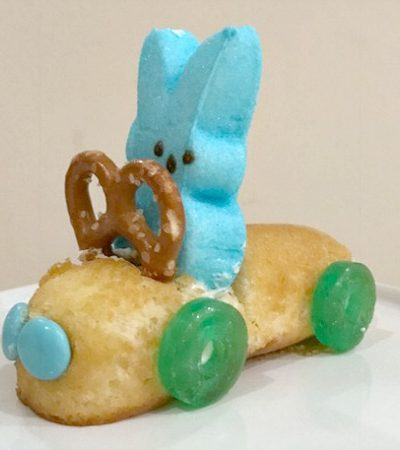 DIY Easter Bunny Peeps Race Cars
