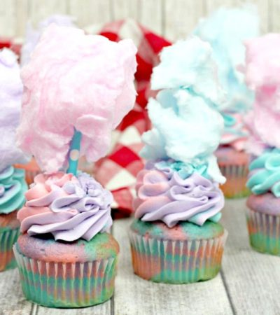 Fun To Make Cotton Candy Cupcakes