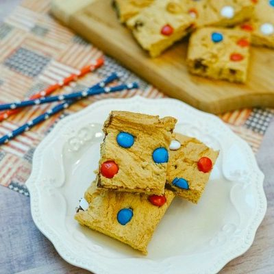 Cake Mix M&M Cookie Bars
