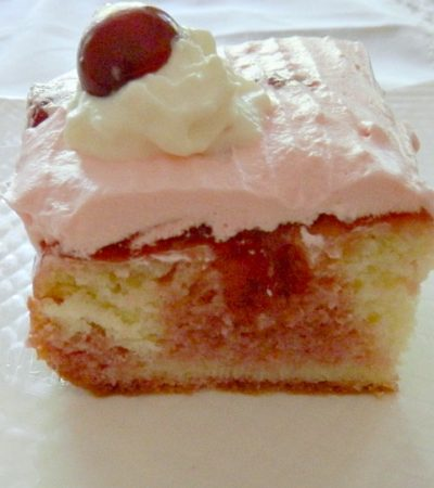 Old Fashioned Cherry Poke Cake