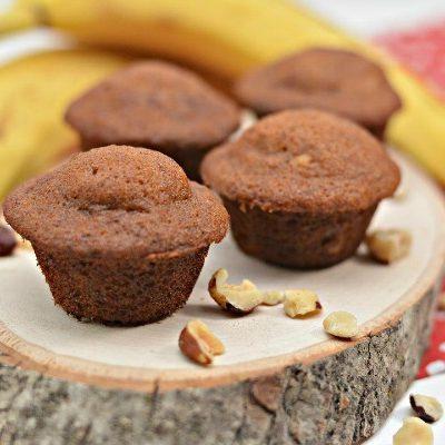 Simple Banana Nut Mini Muffins