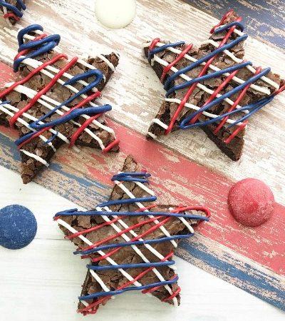 Simple Patriotic Star Brownies