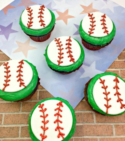 Game Day Baseball Cupcakes