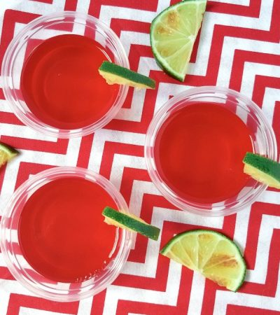 4 Ingredient Raspberry Margarita Jello Shots