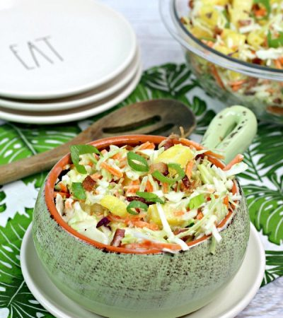 Southern Pineapple Bacon Coleslaw