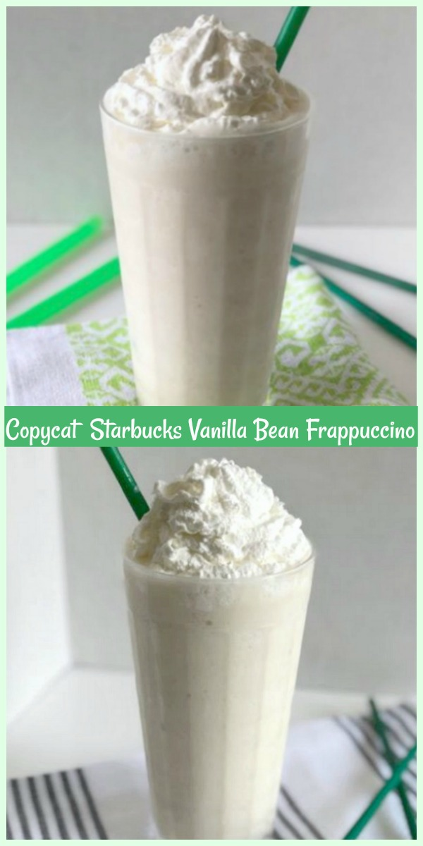 Copycat Starbucks Vanilla Bean Frappuccio