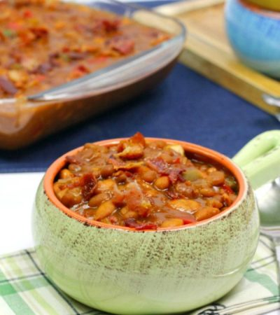 Shortcut Southern Style Baked Beans