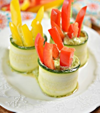 Easy Avocado Zucchini Roll Ups