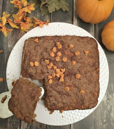 Cake Mix Spiced Pumpkin Dump Cake