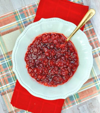 3 Ingredient Apple Cranberry Sauce