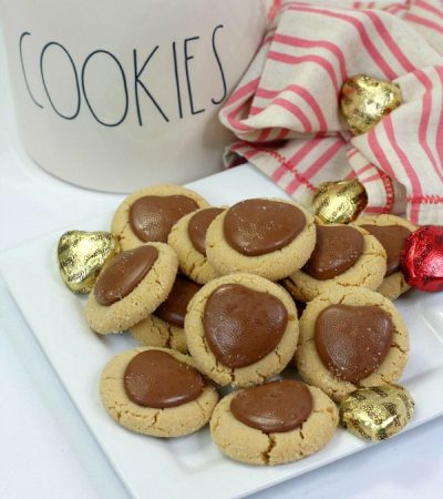 Chocolate Sweetheart Peanut Butter Cookies